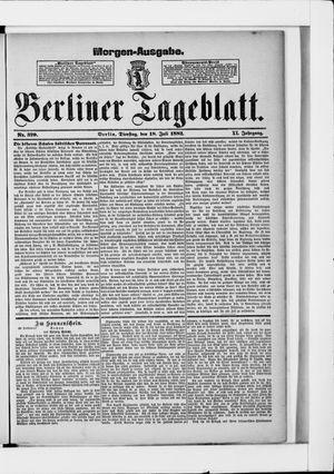 Berliner Tageblatt und Handels-Zeitung vom 18.07.1882