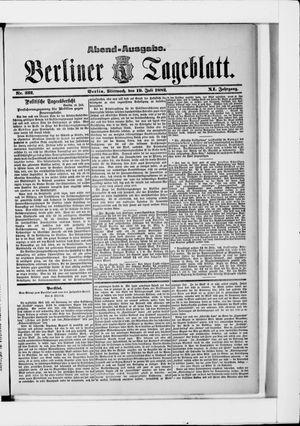 Berliner Tageblatt und Handels-Zeitung vom 19.07.1882