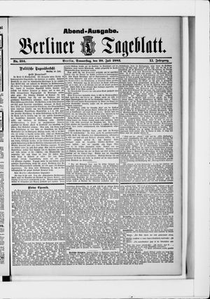Berliner Tageblatt und Handels-Zeitung on Jul 20, 1882
