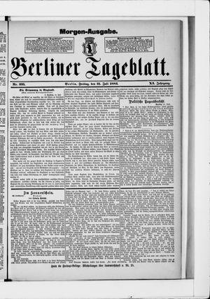 Berliner Tageblatt und Handels-Zeitung vom 21.07.1882