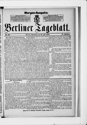 Berliner Tageblatt und Handels-Zeitung vom 22.07.1882