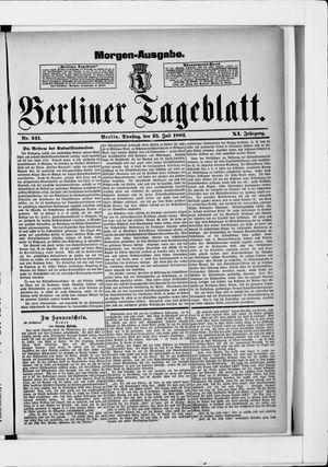 Berliner Tageblatt und Handels-Zeitung vom 25.07.1882