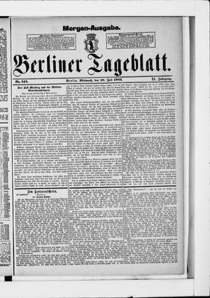 Berliner Tageblatt und Handels-Zeitung vom 26.07.1882