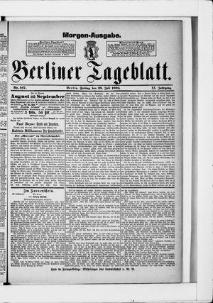 Berliner Tageblatt und Handels-Zeitung vom 28.07.1882