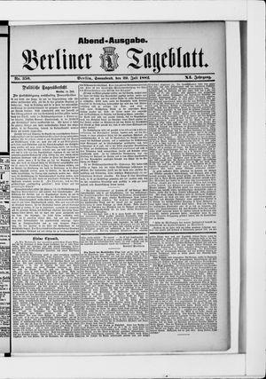 Berliner Tageblatt und Handels-Zeitung vom 29.07.1882