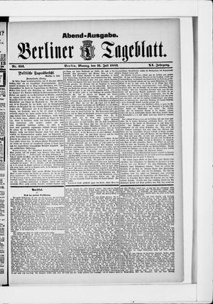 Berliner Tageblatt und Handels-Zeitung vom 31.07.1882