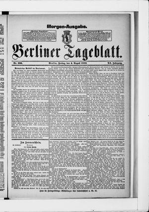 Berliner Tageblatt und Handels-Zeitung vom 04.08.1882