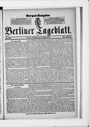 Berliner Tageblatt und Handels-Zeitung vom 06.08.1882