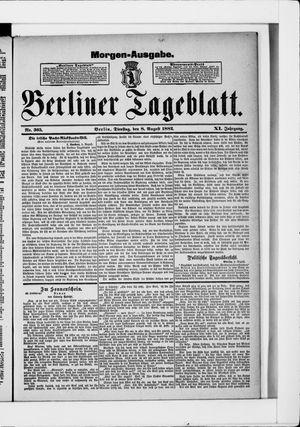 Berliner Tageblatt und Handels-Zeitung vom 08.08.1882