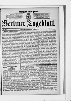 Berliner Tageblatt und Handels-Zeitung vom 09.08.1882