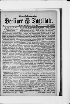 Berliner Tageblatt und Handels-Zeitung vom 03.01.1883