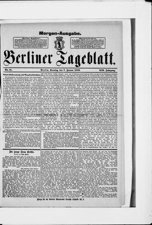 Berliner Tageblatt und Handels-Zeitung vom 07.01.1883