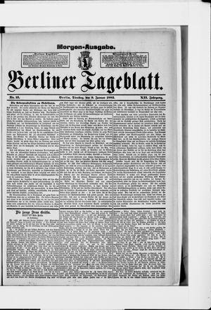 Berliner Tageblatt und Handels-Zeitung vom 09.01.1883