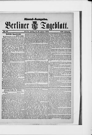 Berliner Tageblatt und Handels-Zeitung on Jan 12, 1883