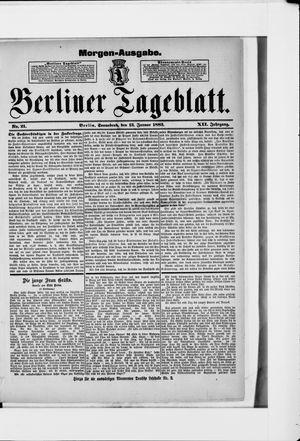 Berliner Tageblatt und Handels-Zeitung vom 13.01.1883