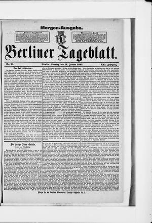 Berliner Tageblatt und Handels-Zeitung vom 14.01.1883