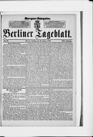 Berliner Tageblatt und Handels-Zeitung vom 16.01.1883