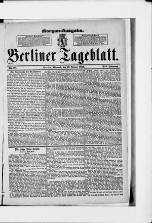 Berliner Tageblatt und Handels-Zeitung vom 17.01.1883