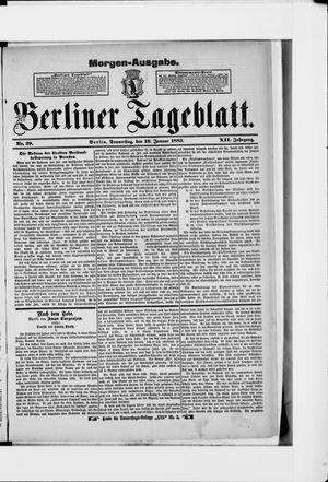 Berliner Tageblatt und Handels-Zeitung vom 18.01.1883