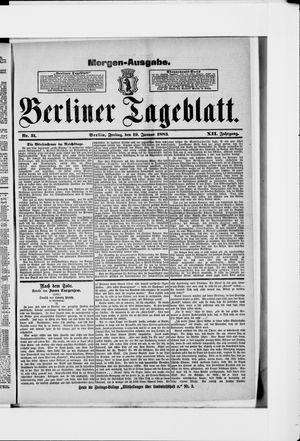 Berliner Tageblatt und Handels-Zeitung on Jan 19, 1883