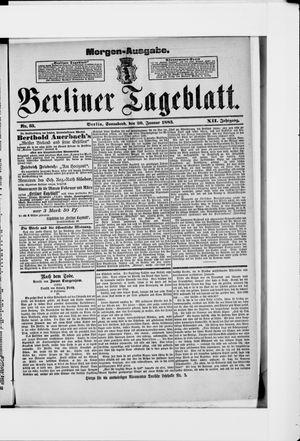 Berliner Tageblatt und Handels-Zeitung vom 20.01.1883