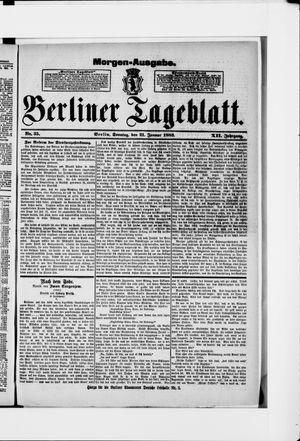 Berliner Tageblatt und Handels-Zeitung vom 21.01.1883