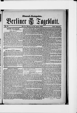 Berliner Tageblatt und Handels-Zeitung vom 22.01.1883