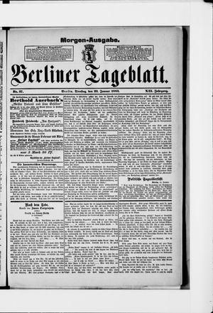 Berliner Tageblatt und Handels-Zeitung vom 23.01.1883