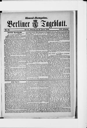 Berliner Tageblatt und Handels-Zeitung vom 24.01.1883