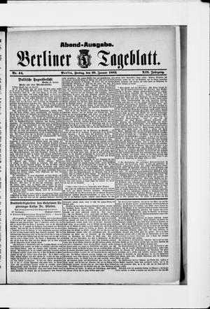 Berliner Tageblatt und Handels-Zeitung vom 26.01.1883