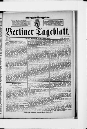 Berliner Tageblatt und Handels-Zeitung vom 27.01.1883