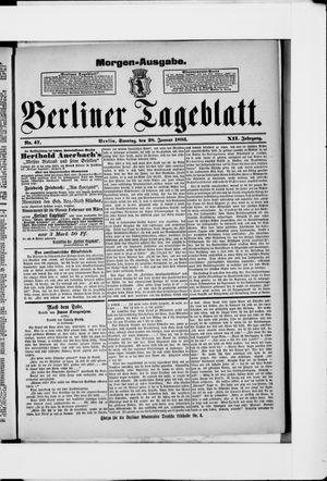 Berliner Tageblatt und Handels-Zeitung vom 28.01.1883