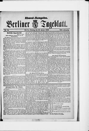 Berliner Tageblatt und Handels-Zeitung vom 30.01.1883