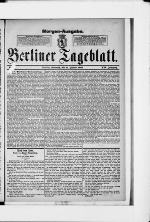 Berliner Tageblatt und Handels-Zeitung vom 31.01.1883