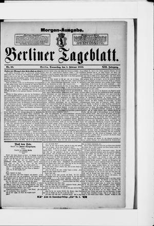 Berliner Tageblatt und Handels-Zeitung vom 01.02.1883