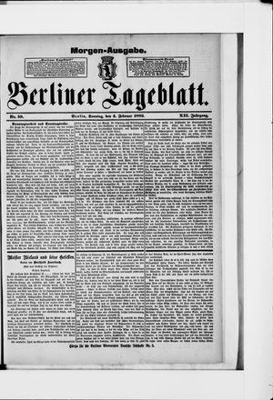 Berliner Tageblatt und Handels-Zeitung vom 04.02.1883