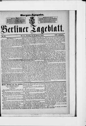 Berliner Tageblatt und Handels-Zeitung vom 06.02.1883