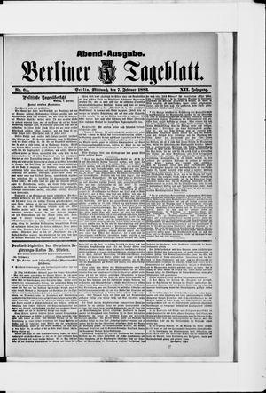 Berliner Tageblatt und Handels-Zeitung vom 07.02.1883