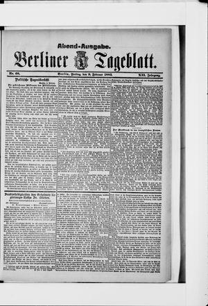 Berliner Tageblatt und Handels-Zeitung vom 09.02.1883