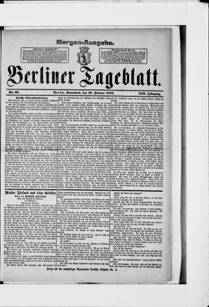 Berliner Tageblatt und Handels-Zeitung vom 10.02.1883