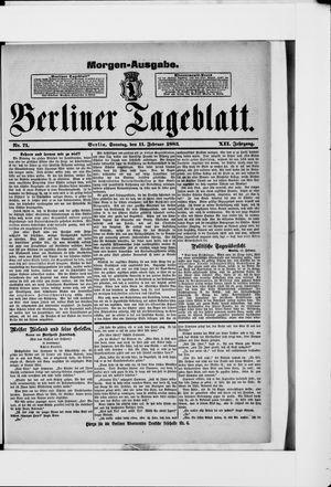 Berliner Tageblatt und Handels-Zeitung vom 11.02.1883