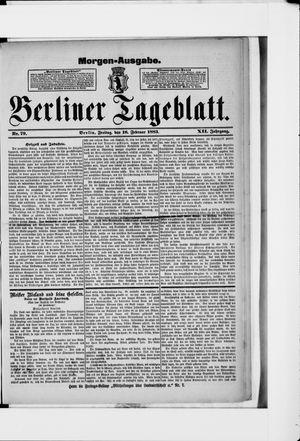 Berliner Tageblatt und Handels-Zeitung vom 16.02.1883