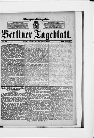 Berliner Tageblatt und Handels-Zeitung vom 20.02.1883