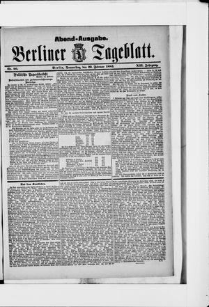 Berliner Tageblatt und Handels-Zeitung vom 22.02.1883
