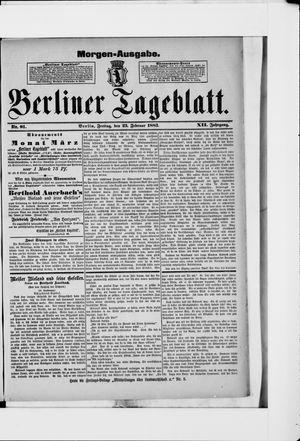Berliner Tageblatt und Handels-Zeitung vom 23.02.1883