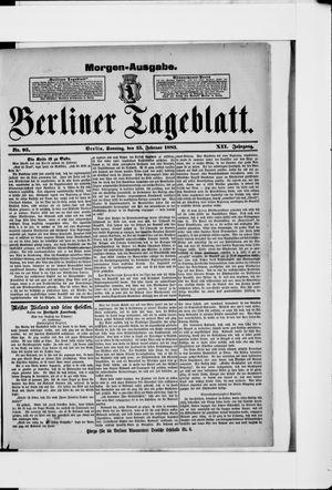 Berliner Tageblatt und Handels-Zeitung vom 25.02.1883