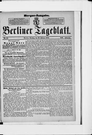 Berliner Tageblatt und Handels-Zeitung vom 27.02.1883
