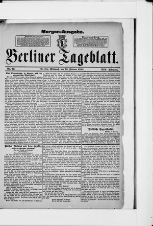 Berliner Tageblatt und Handels-Zeitung vom 28.02.1883
