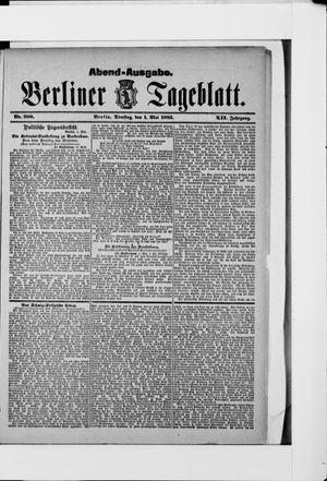 Berliner Tageblatt und Handels-Zeitung vom 01.05.1883