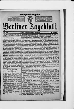 Berliner Tageblatt und Handels-Zeitung vom 03.05.1883
